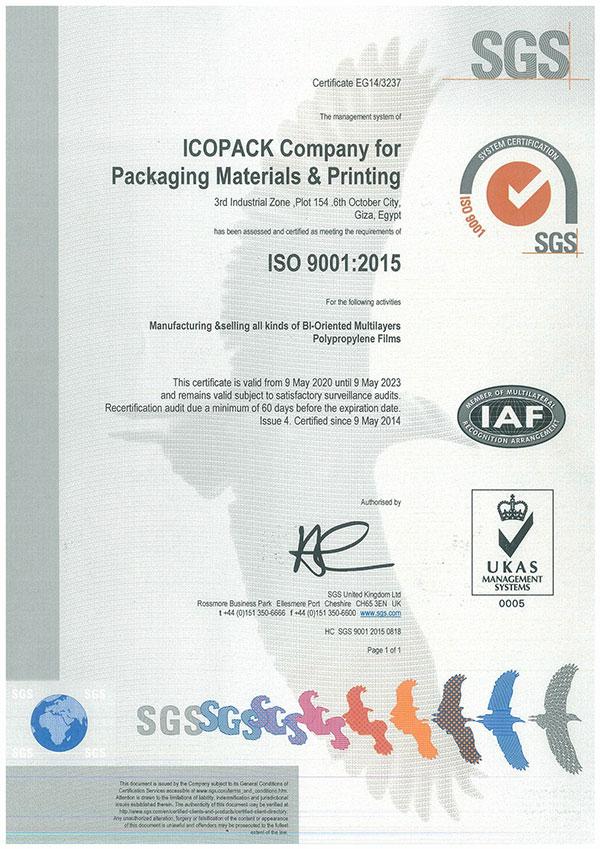 ICOPACK ISO 9001:2015
