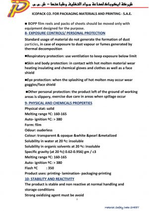 ICOPACK Material Safety Data Sheet